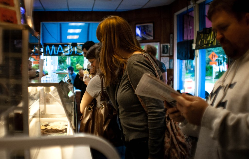 Washtenaw Dairy ice cream counter