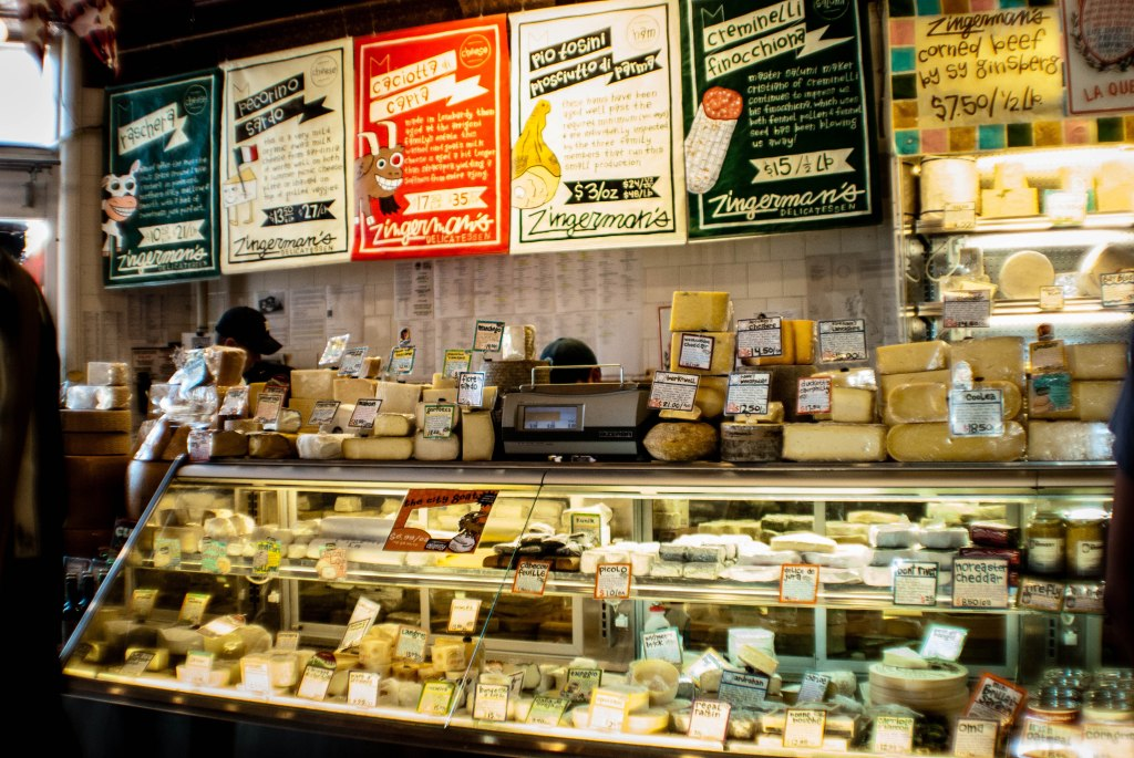 Cheese counter at Zingerman's Deli http://www.zingermansdeli.com/