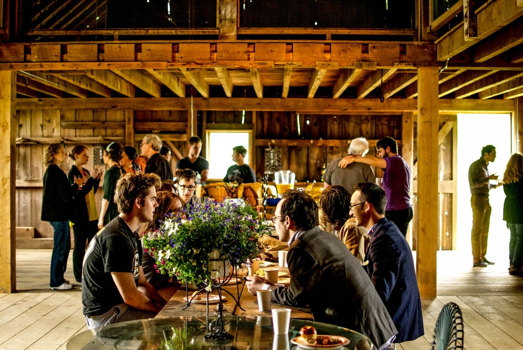 Brunch in a barn