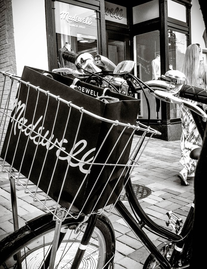 Madewell in my bike basket