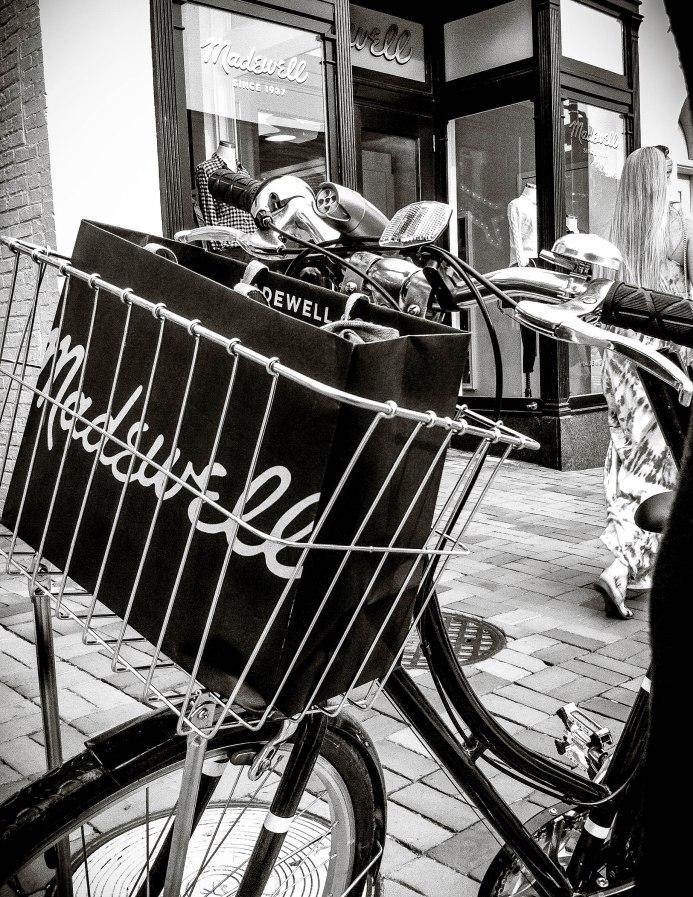Madewell in my bike basket