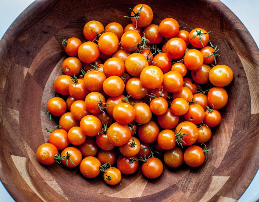 Sungold cherry tomatoes from the farmer's market