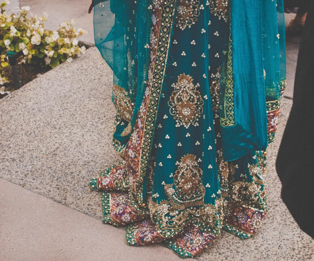 I wished I had been wearing this beautiful sari