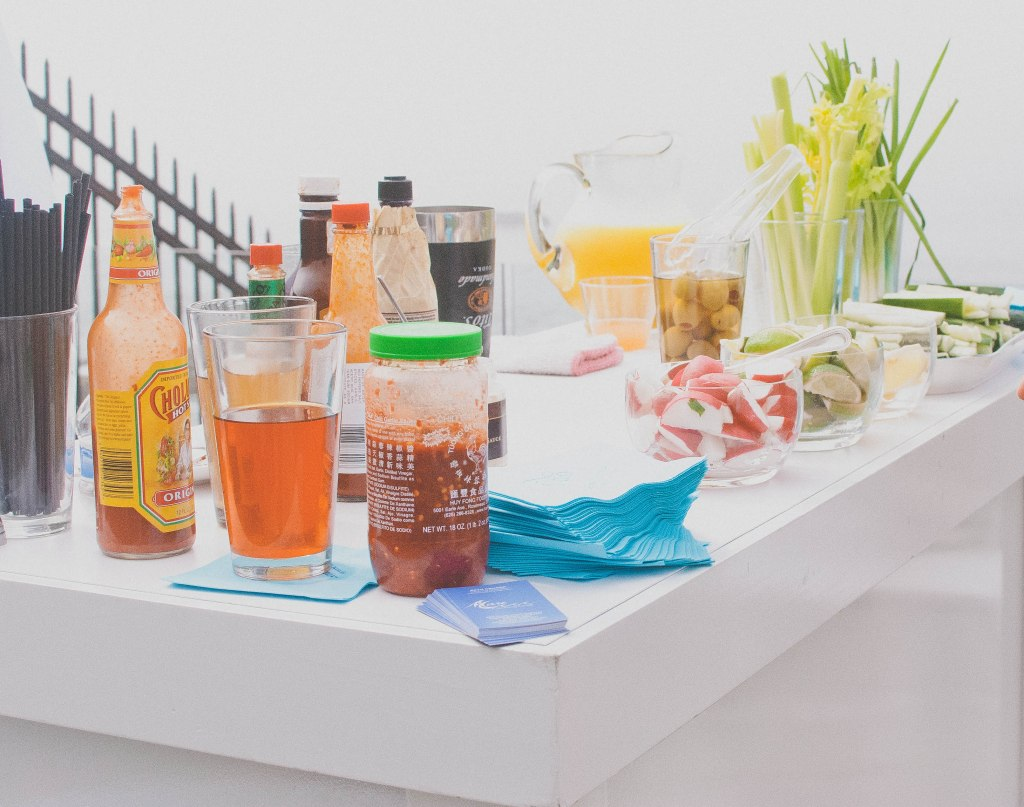 All brunches should have bloody mary bars