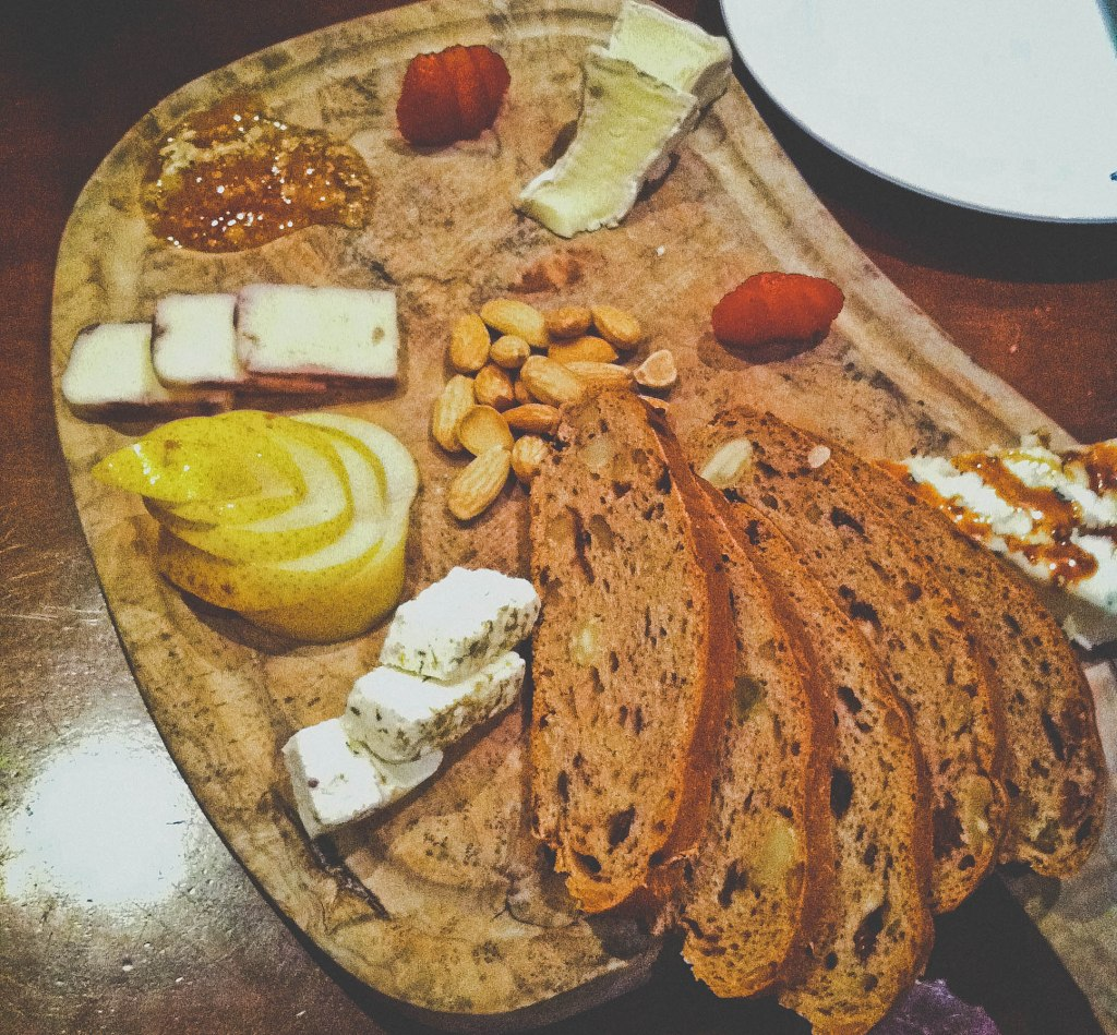 Saturday night's cheese platter