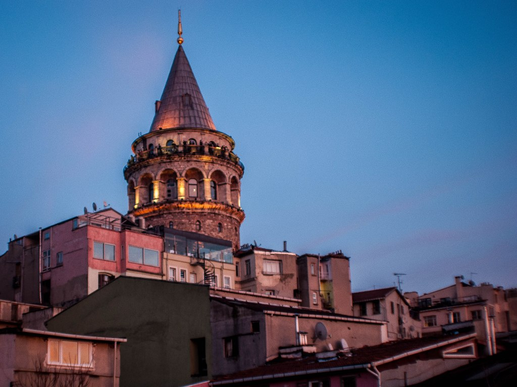 Galata Tower from our bedroom window