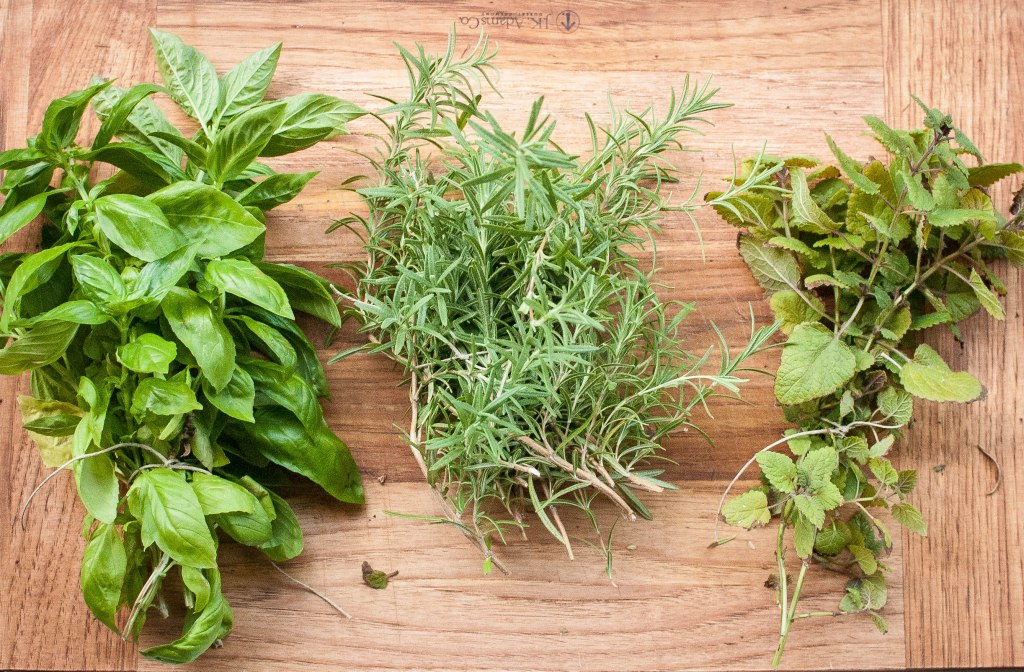 Basil, Rosemary, Lemon Balm