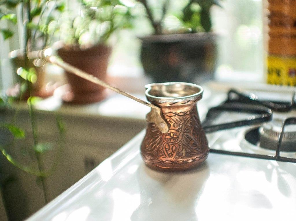Cezve, a Turkish coffee pot