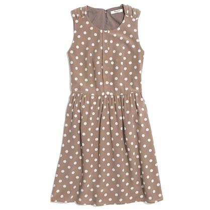 Madewell Shirred Dress in Dot