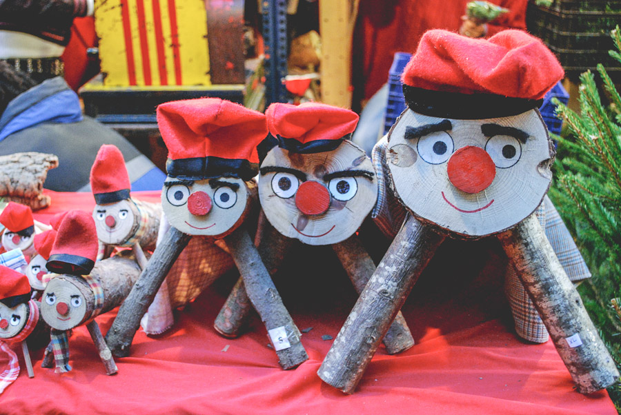 Caga Tios at the Christmas market in Barcelona