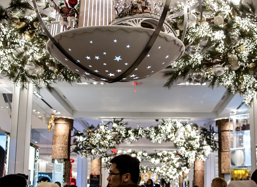 Macy's holiday decor