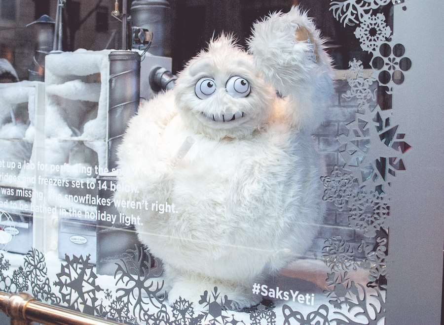 Saks' holiday window
