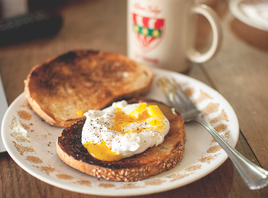 Smitten Kitchen has taught the Mister to make the perfect poached egg every time