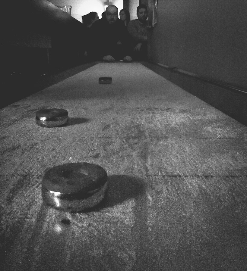 I haven't played shuffle board since my college days.  Not too rusty!