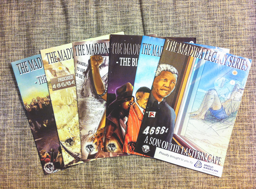 Madiba Legacy Series.  Free comic books given out to teach South African children about Nelson Mandela's life.