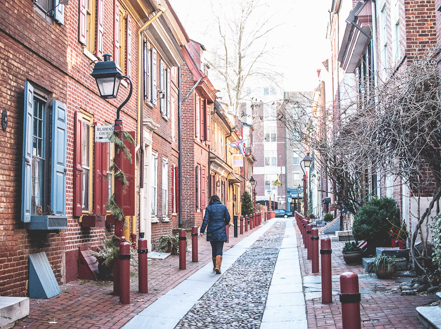 Elfreth's Alley is the oldest residential street in the country