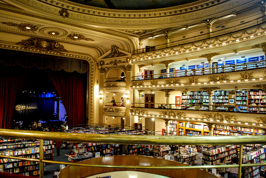 El Ateneo, a bookstore in an old theatre